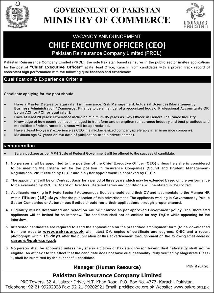 Ministry Of Commerce Jobs September 2020
