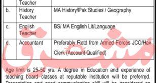 Army Public School & College Jobs September 2020