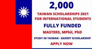 2,000 Scholarships in Germany 2021