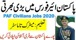 PAF Jobs As Civilian Jobs September 2020