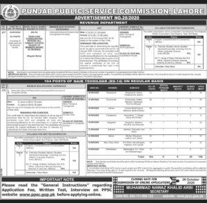 Punjab Public Service Commission Jobs October 2020