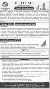 Bolan University of Medical & Health Sciences BUMHS Quetta Jobs October 2020