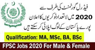 FPSC Jobs October 2020