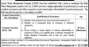 LWMC Jobs November 2020