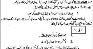 Tehsil Council Pind Dadan Khan District Jhelum Jobs December 2020