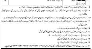 Pakistan Army GHQ Rawalpindi Jobs 2020