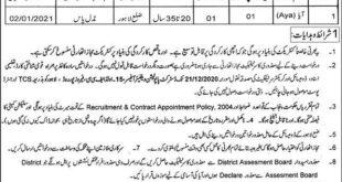 Population Welfare Department Lahore Jobs 2020
