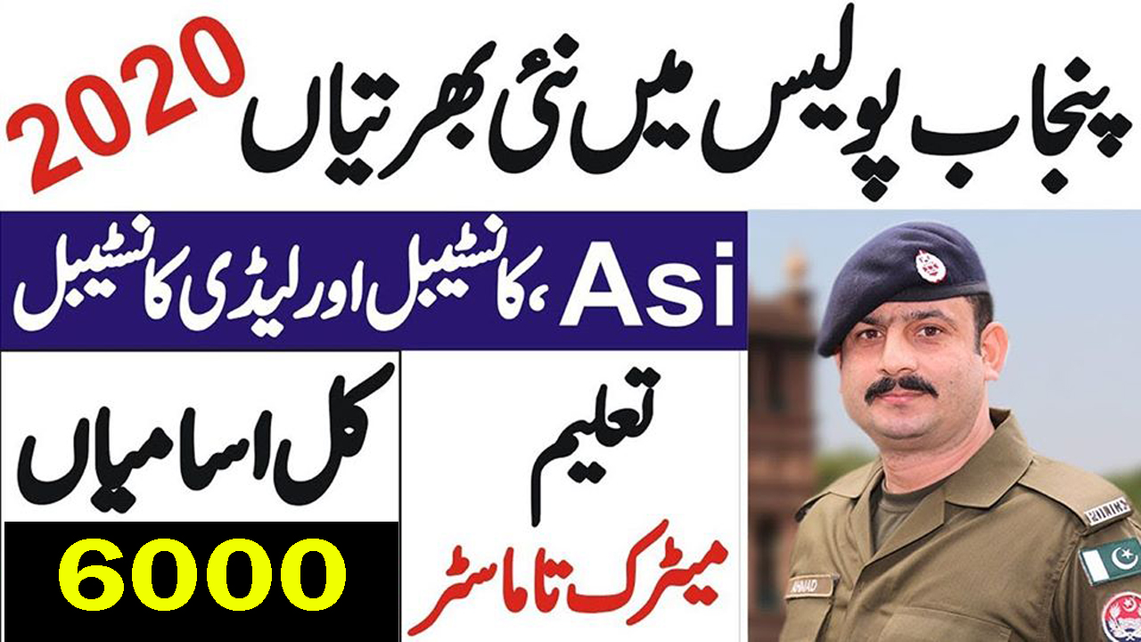 Punjab Police Jobs December 2020