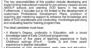 Agha Khan Education Service Pakistan Jobs 2021