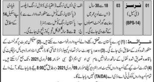 Join Pak Army CMH Sibi Jobs 2021
