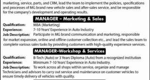 MG Contractors Pvt Limited Jobs 2021