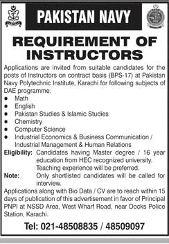 Pakistan Navy Jobs 2021