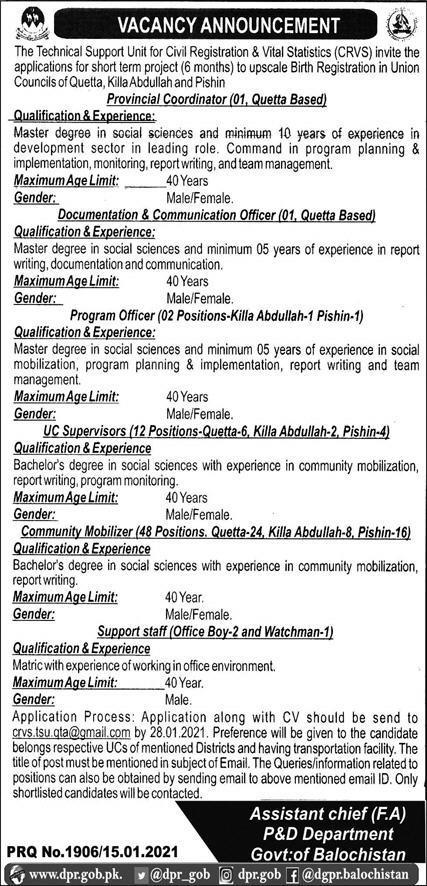 Planning and Development Department Jobs 2021