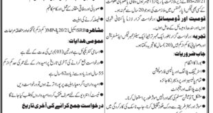 Services & General Administration Sindh Jobs 2021