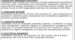 Tariq Glass Industries Limited Jobs 2021