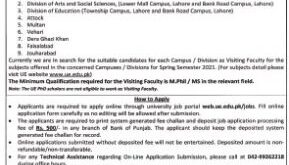 University of Education UE Lahore Jobs 2021