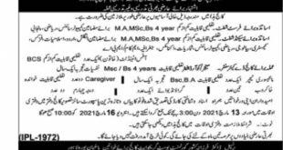 Govt Postgraduate College for Women Lahore Jobs 2021