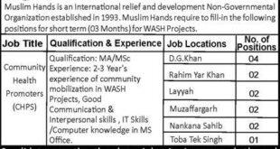 Muslim Hands Organization Jobs 2021