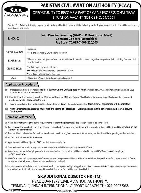 PCAA Jobs April 2021