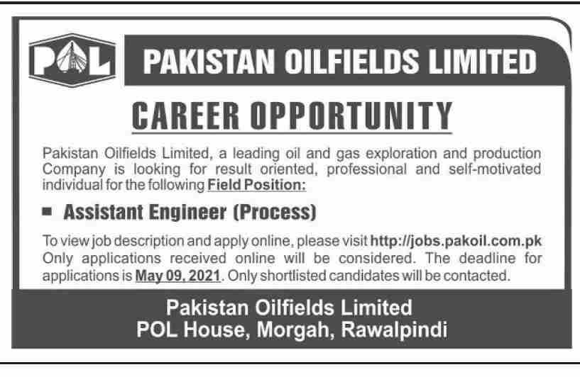 Pakistan Oilfields Limited (POL) Jobs May 2021