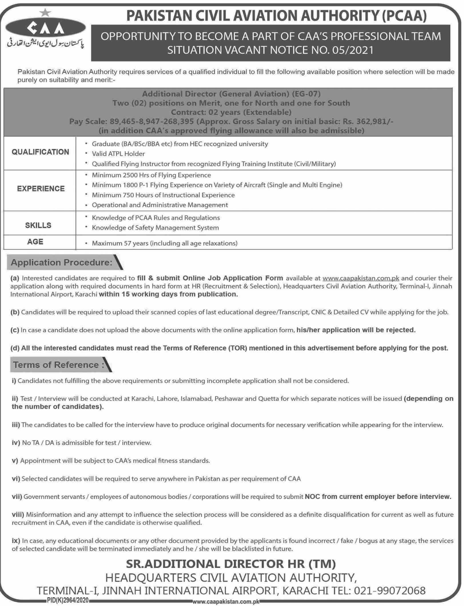 Pakistan Civil Aviation Authority (PCAA) Jobs May 2021